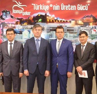 KAZAKİSTAN BÜYÜKELÇİSİ KONYA ŞEKER'İ ZİYARET ETTİ