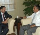 Vali Doğan'dan Başkan Konuk'a ziyaret.