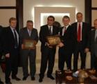 TFF Başkanı Özgener, Pankobirlik Genel Başkanı Recep Konuk'u ziyaret etti.