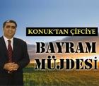 Üreticinin bayram masrafları da okul masrafları da Konya Şeker'den.